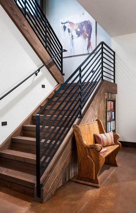 Дизайн лестницы на второй этаж в частном доме (фото)