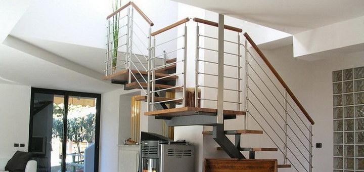 Расчет лестницы на второй этаж с поворотом на 180