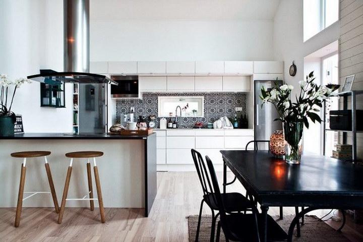 Дизайн кухни, совмещенной с гостиной: фото с барной стойкой