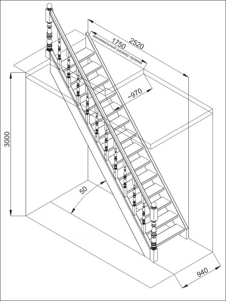 Как сделать деревянную лестницу на второй этаж своими руками: чертежи