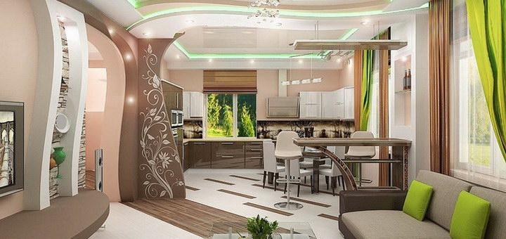 Кухня гостиная 18 квадратов: дизайн