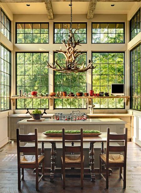 Люстры для кухни в современном стиле: фото