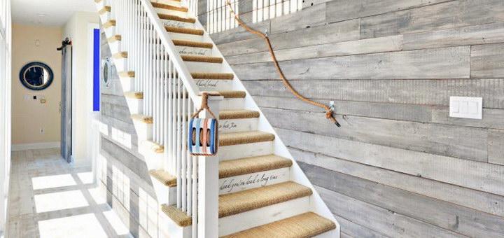 Отделка лестницы на второй этаж (фото) в частный дом