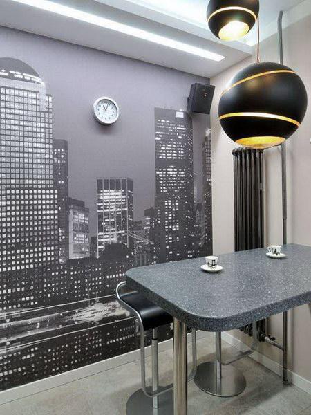 Фотообои на кухню возле стола: фото, идеи интерьера