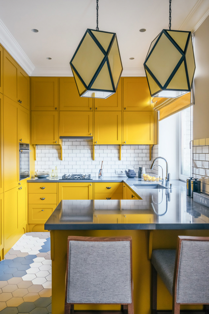 Ремонт кухни 10 кв. м (фото): стены и полы, потолок