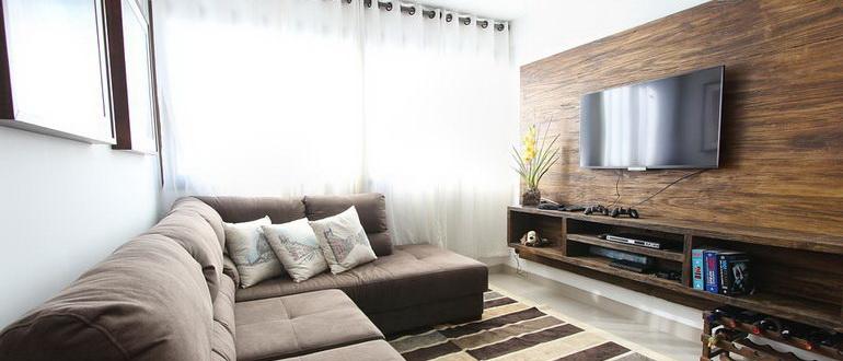 деревянная ниша для телевизора