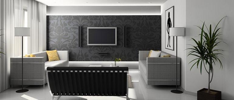 плазма на черном фоне стены