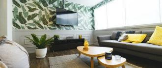 высота установки телевизора на стене