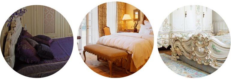 спальня по канонам барокко