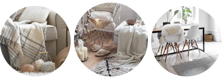 подушки и одеяла в хюгге