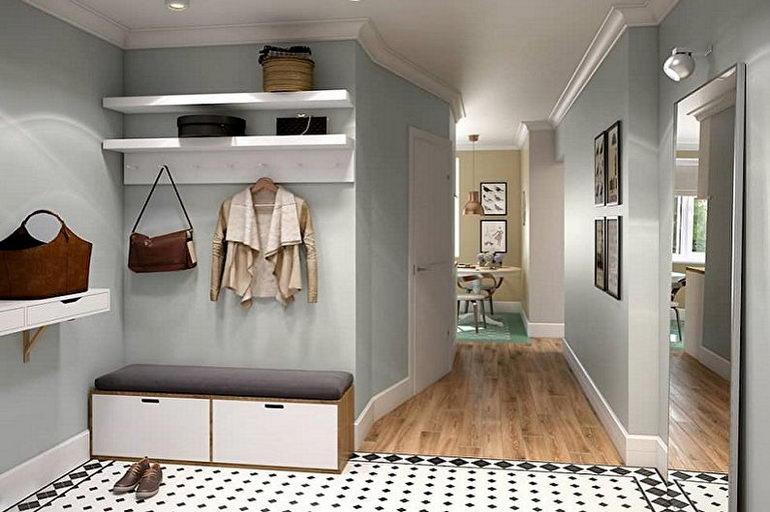оливковые цвета в коридоре
