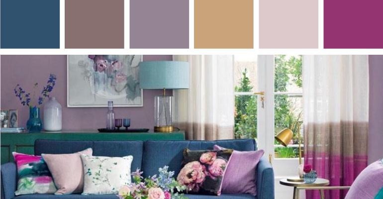цветочные мотивы интерьера