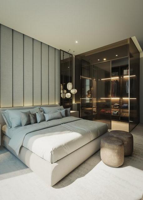 гардероб у кровати