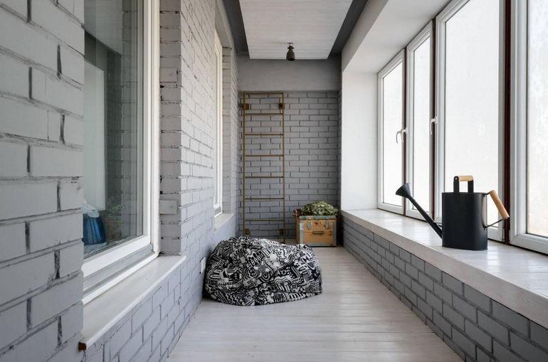 прямоугольный балкон