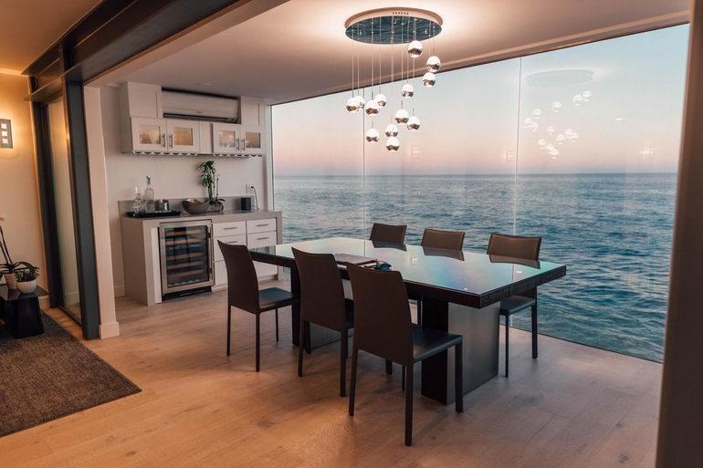 кухня-гостиная прямоугольной формы