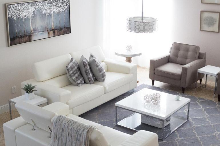 дизайн двухкомнатной квартиры 55 кв м фото в современном стиле