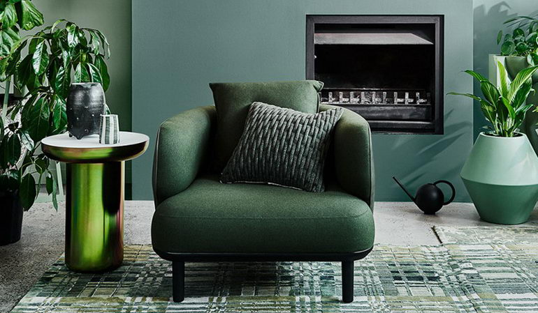 зелень в дизайне комнаты