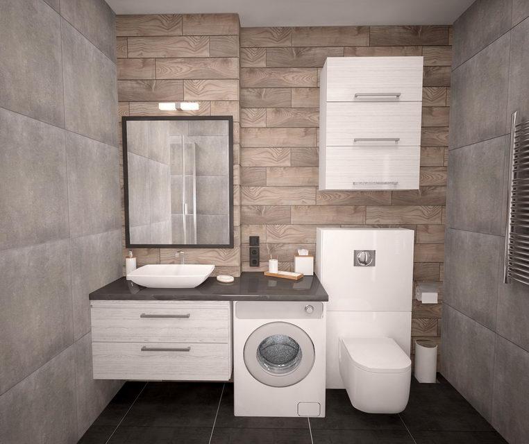 пример материалов для ванной в сканди стиле