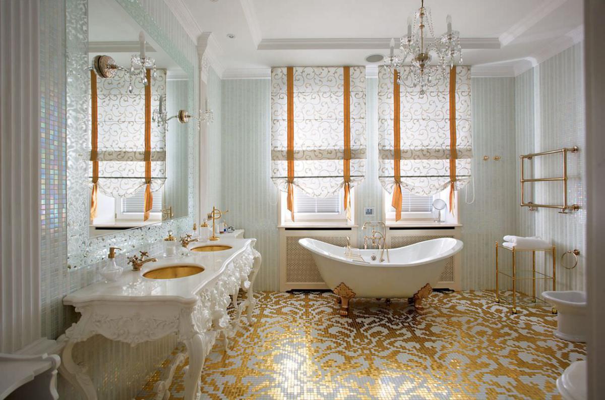 Роскошная ванна в стиле барокко