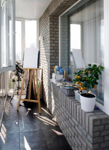 Французский балкон для творчества