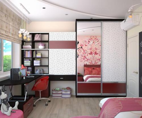 Розовая гамма комнаты