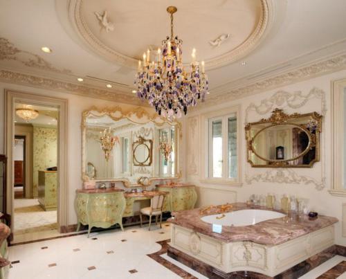 Оливковый и ореховый цвет в ванной