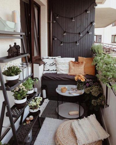 Дизайн балкона в стиле хюгге